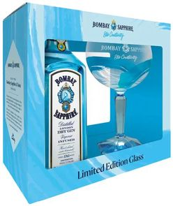 Bombay Sapphire Traditional 0,7l 40% + 1x sklo GB